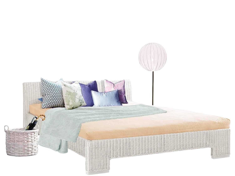 rattanbetten in wei romantische landhausbetten landhaus blog. Black Bedroom Furniture Sets. Home Design Ideas