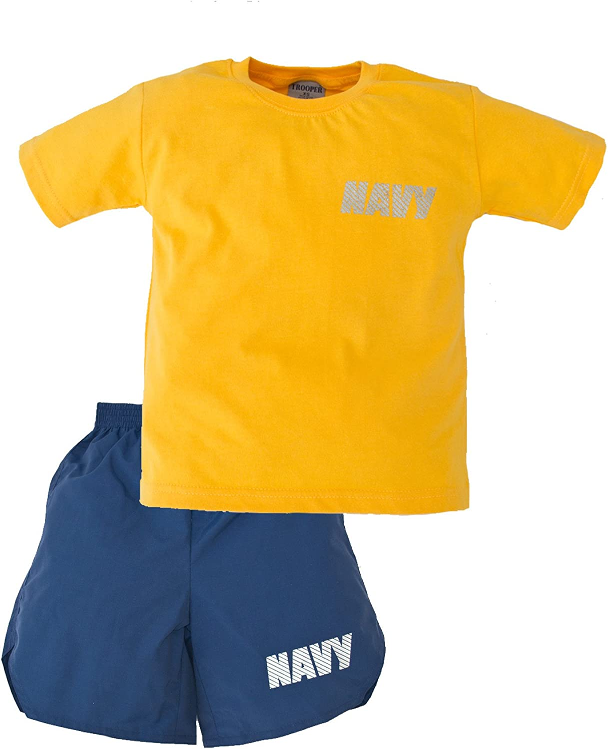 Navy 2 Piece PT Youth Short Set