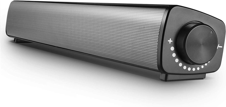 Vanzev Pc Lautsprecher Soundbar Wired Usb Mit Mikrofoneingang Und Kopfhörerausgang Fassender Kompatibilität Dual Treiber Rein Bass Für Computer Laptops Smartphones Tablets Beamer Silber Audio Hifi