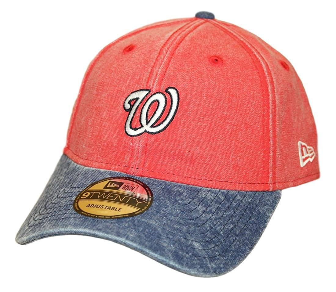 New Era Washington Nationals 9Twenty MLB Rugged Canvas Adjustable Hat