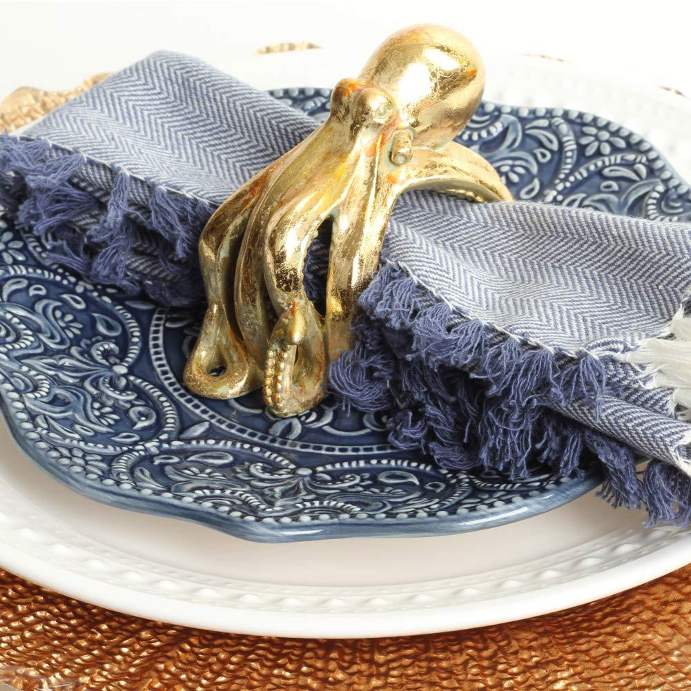 Set of 4 Easter Unique Napkin Rings for Wedding Thanksgiving Christmas Elephant, Silver Elegant Modern Gift Ideas Koyal Wholesale Elephant Animal Napkin Rings