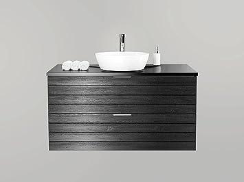 Waschtischunterschrank 100 Cm Breit Holzedekor Weiss Holzdekor