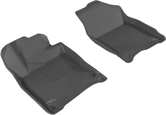 3D MAXpider L1HD07411509 Black All- Weather Mat (Custom Fit Kagu Rubber Front Row for Select Honda Civic Coupe/Sedan Models)