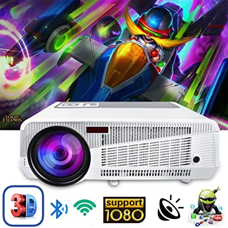 AINGOL Proyector Full HD, proyector LED Compatible con 1080P ...