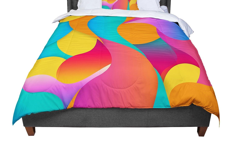KESS InHouse Danny Ivan 'Still Life' Warm Abstract Twin Comforter, 68' X 88'