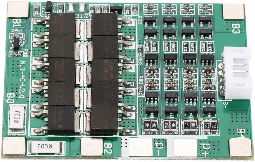 4S 50A Lithium Battery Protection Board Battery Protection Board 3.7V Li-ion Cell BMS PCB Board