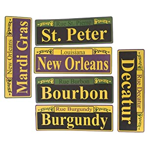Mardi Gras Carnival Party Street Sign Decoration