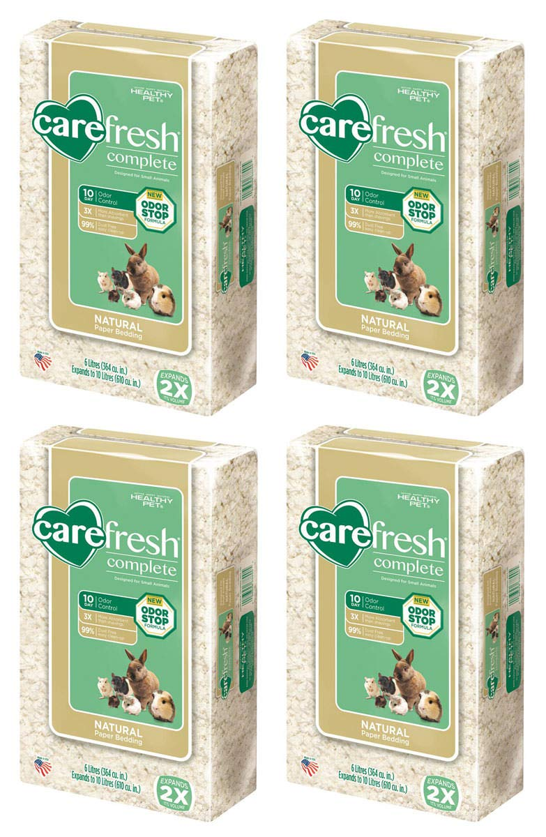 Carefresh VBHDGH Complete Ultra White Natural Pet Bedding for Small Animals 4 Pack by Carefresh