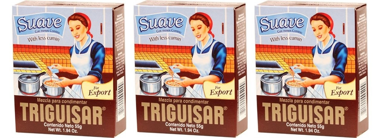 TRIGUISAR Suave 55 gr. - 3 Pack/Triguisar With less cumin 1.94 oz. - 3 Pack.