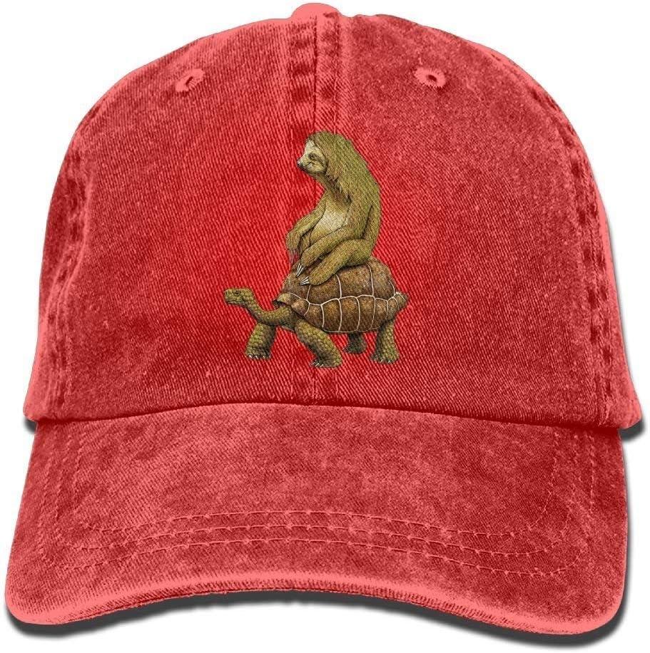 GourtG Sloth and Turtles Denim Baseball Caps Hat Adjustable Cotton Sport Strap Cap for Men Women
