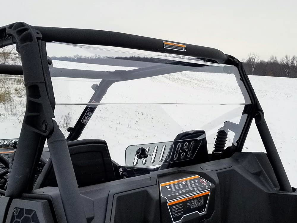Spike 2018 Can Am Maverick 800//1000 Trail Rear Windshield w//Vent /_ 77-2600-R