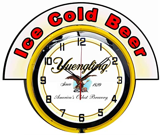 Amazon Com Checkingtime Llc 19 Yuengling Beer Clock With Marquee