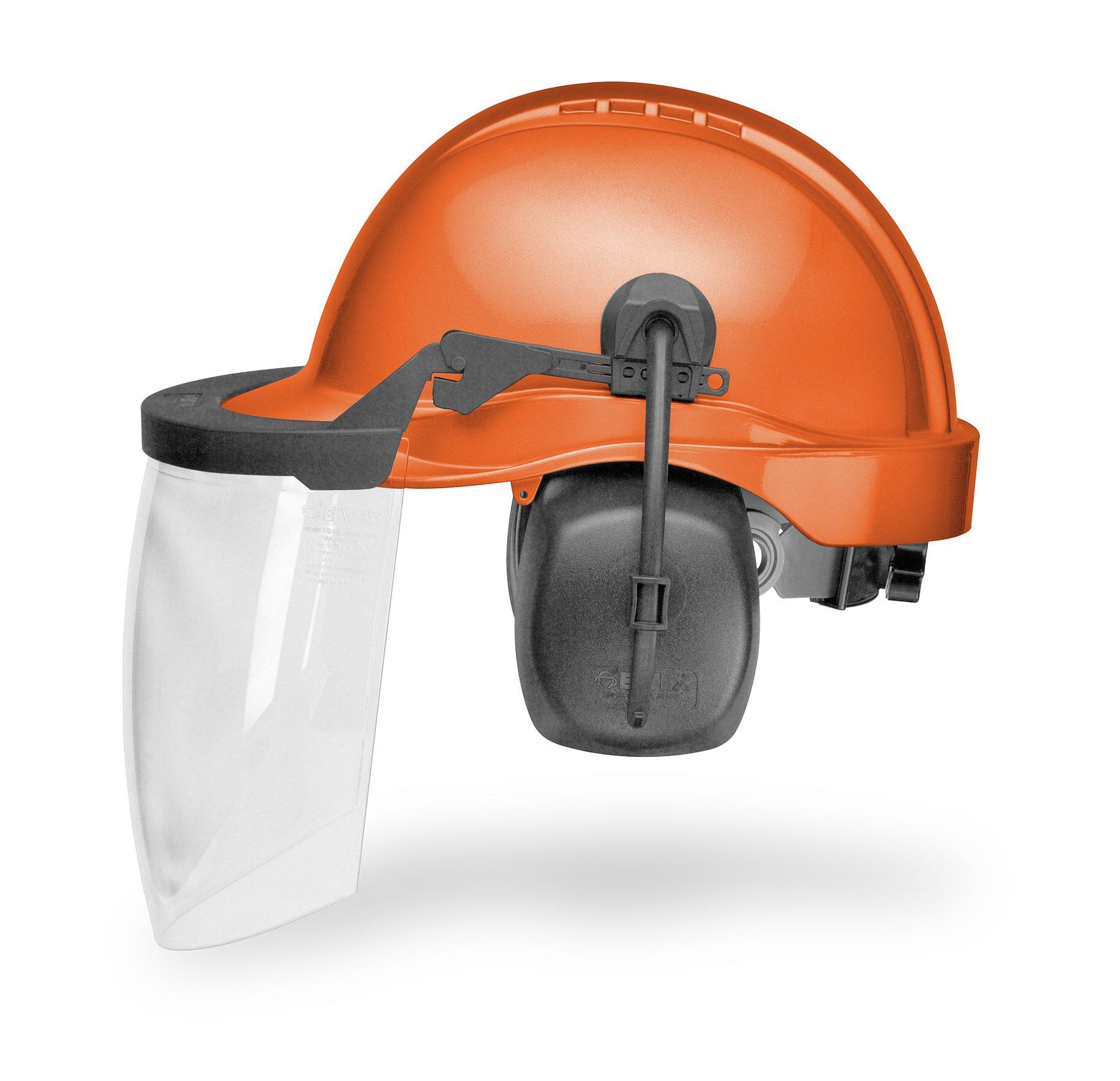 ELVEX CU-30L Loggers Helmet, Orange, NRR 25 by Elvex