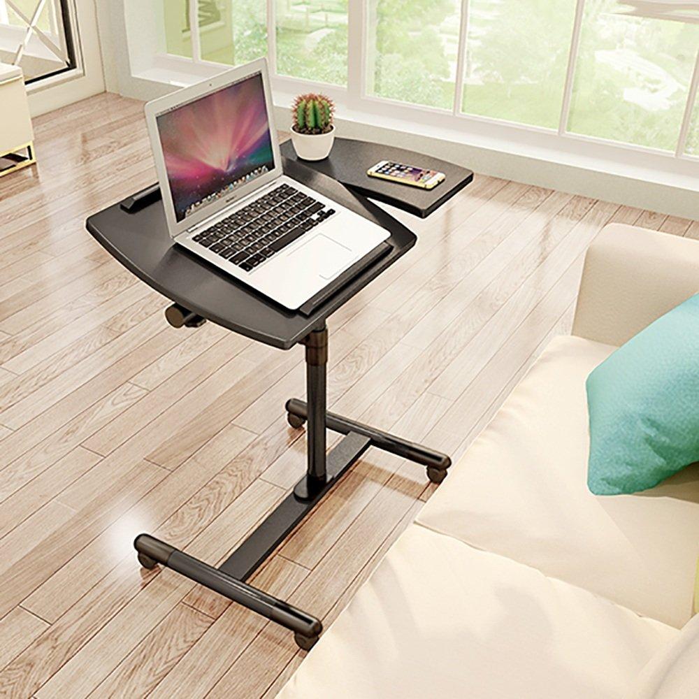 ZZHF コンピュータテーブル/多機能コンピュータデスク/モバイル/高さ調節可能/家庭用コンピュータデスク デスク (色 : ブラック) B07CZKKGZS ブラック ブラック