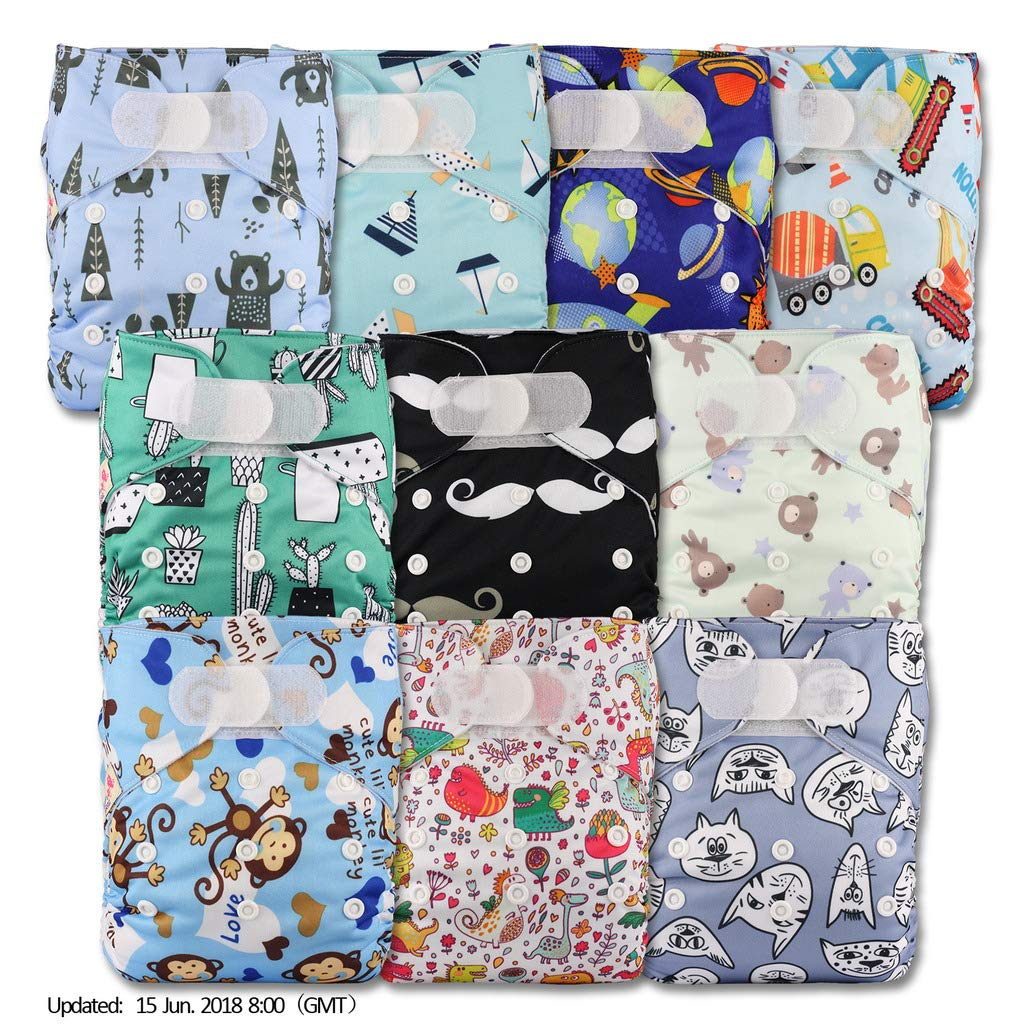 Fastener: Popper with 5 Bamboo Inserts Littles /& Bloomz Reusable Pocket Cloth Nappy P501bb1