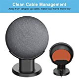 HomeMount Pedestal Mount Stand for Google Nest Mini (2nd Gen) and Google Home Mini, Perfect Cord Management for Voice Assistants, Improve Sound Visibility - Black