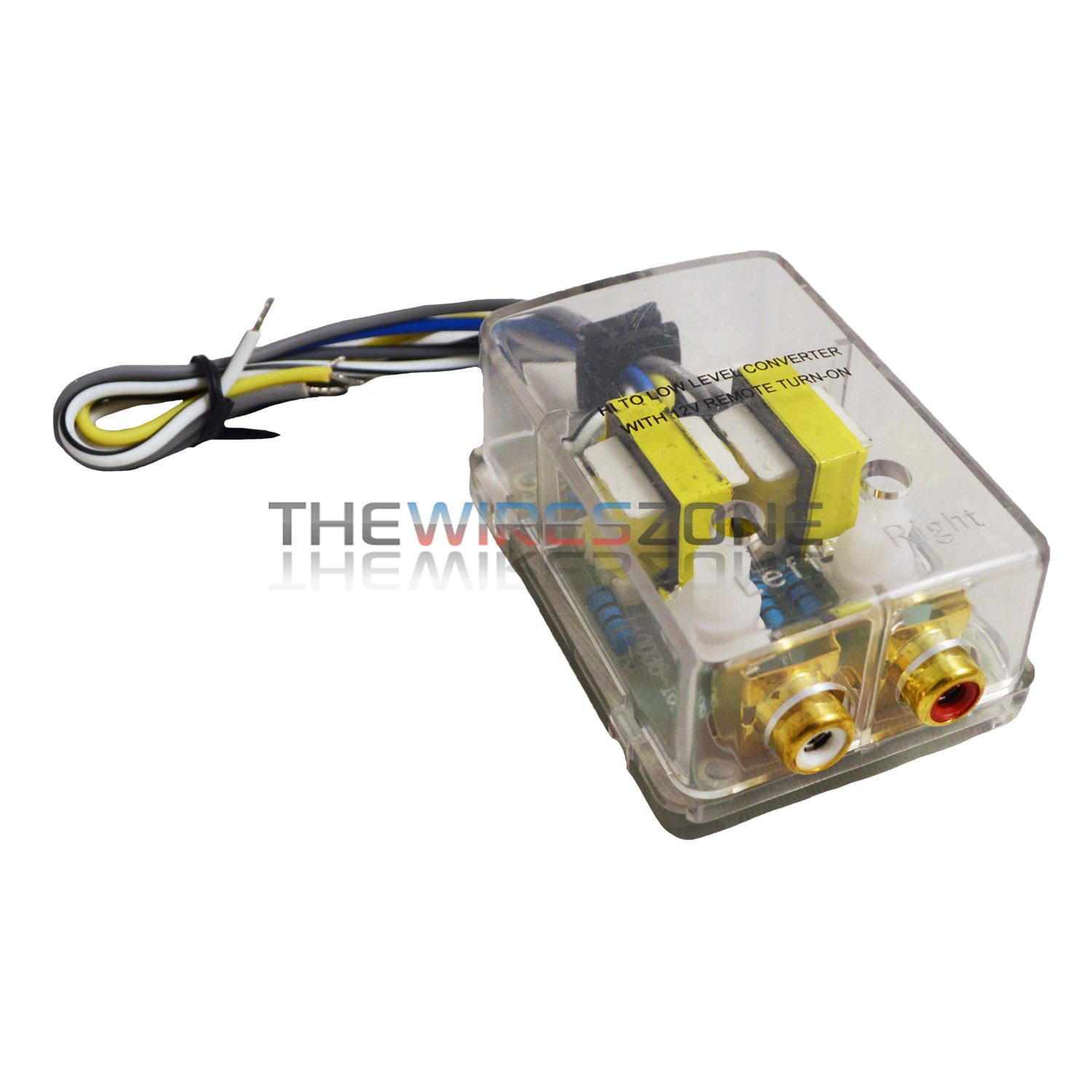 2-Channel High to Low Line Output Converter w/ Built-in 12 Volt Remote Turn-On