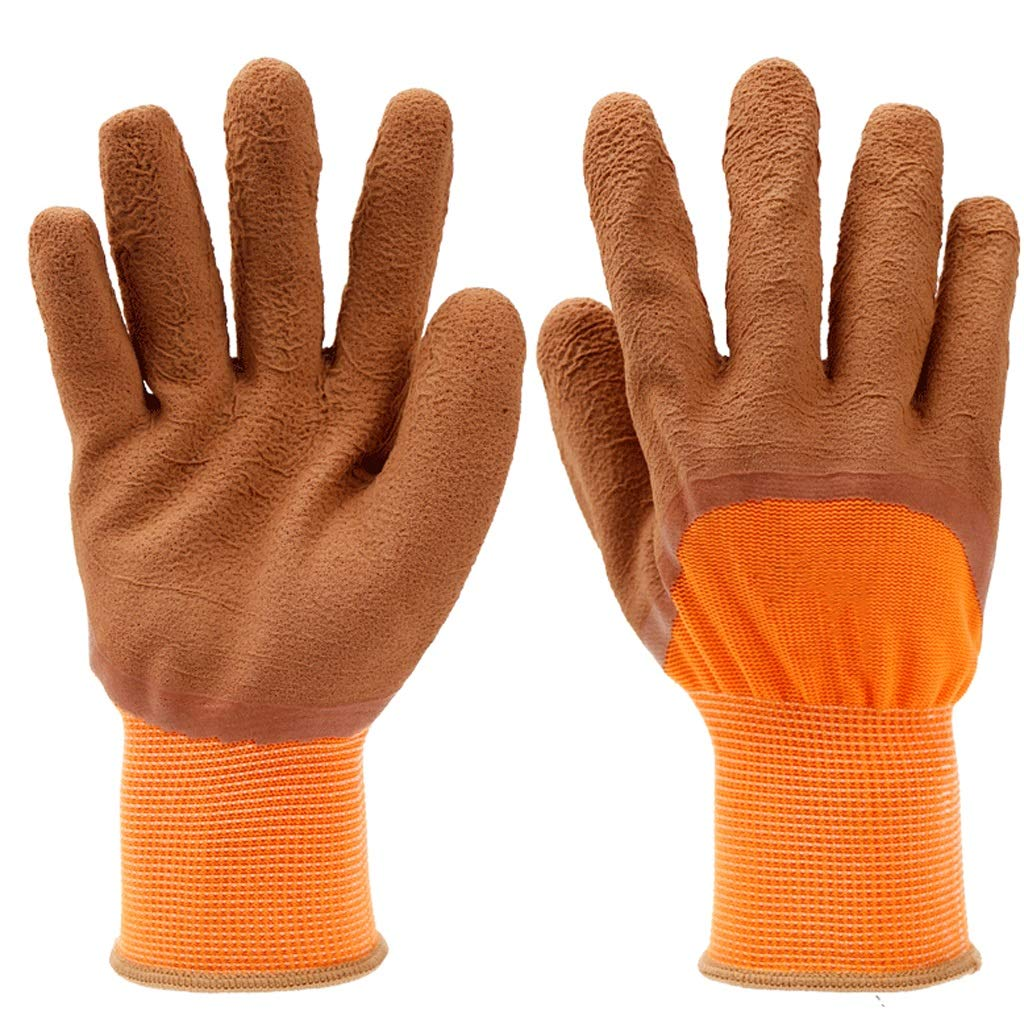 LZRZBH Industrial Gloves,Working Gloves Comfort Coated Work Gloves, Breathable,Knit Wrist Cuff, Medium Size Fit Most (Color : A)