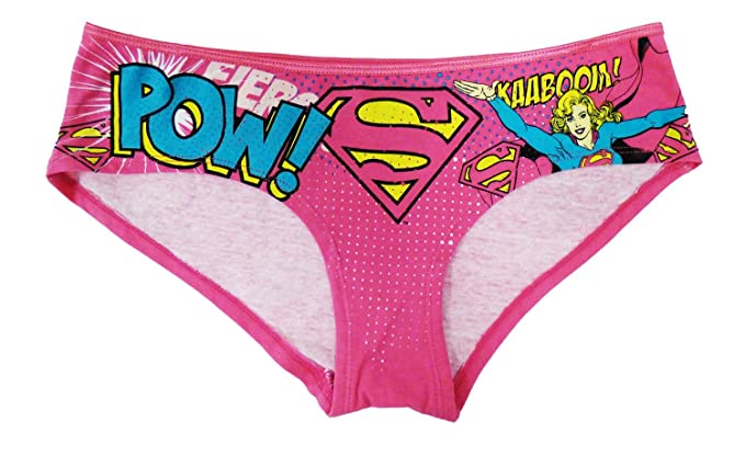 a1378efec08b Amazon.com: ThatWear Supergirl Pow Hipster Large Pink: Clothing