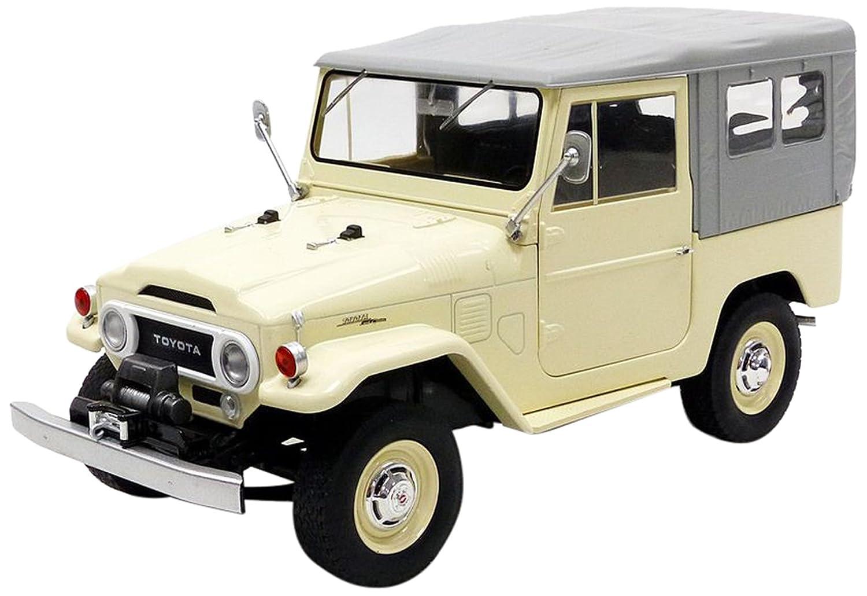 Triple 9 – Toyota Land Cruiser Fj40 1967 Miniature Vehicle, Scale 1  18, t91800152, Beige Grey
