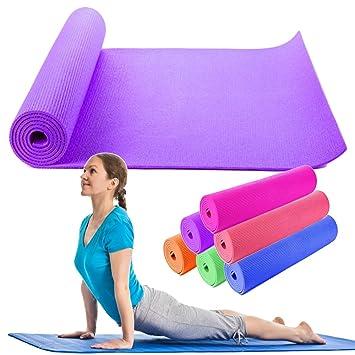 OUTLETISSIMO Alfombrilla Yoga Alfombra Morado Pilates ...