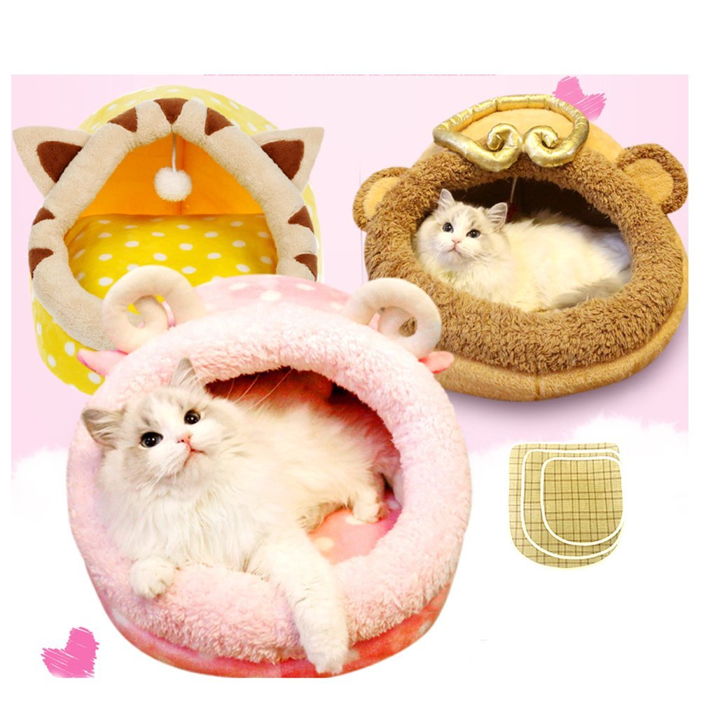 Saymequeen Cute Animal Cake Pet Bed for Small Medium Cat Dog Warm Nest House (cake lamb style) by Pet-Saymequeen (Image #6)