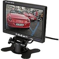 Zettaguard 7-inch alta resolución de 800x 480TFT LCD Monitor de cámara de vista trasera del coche con soporte, visualización giratoria y 2AV entradas