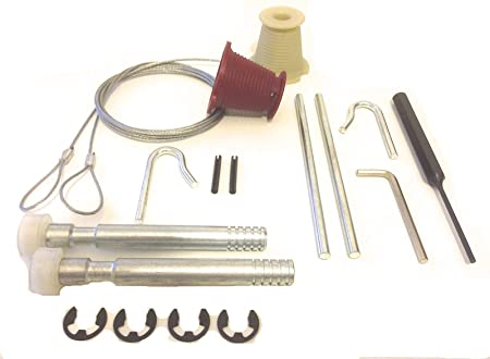 Full Repair Kit Cables Rollers Nuts Garage Door Spares Parts To