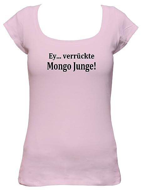 tees4low EY. verrückte Mongolia Niño. New Kidz Turbo Sprüche Fun Party Club Wear Boat Neck - Camiseta de Mujer Rosa Large: Amazon.es: Ropa y accesorios