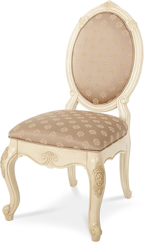 Michael Amini Lavelle Side Chair, Blanc