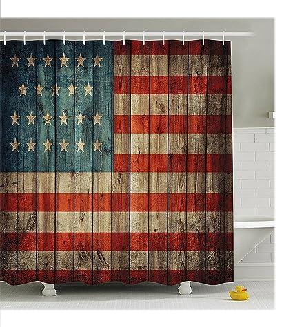 Amazon.com: HOMEPPE Decorative Vintage Shower Curtain, Waterproof ...