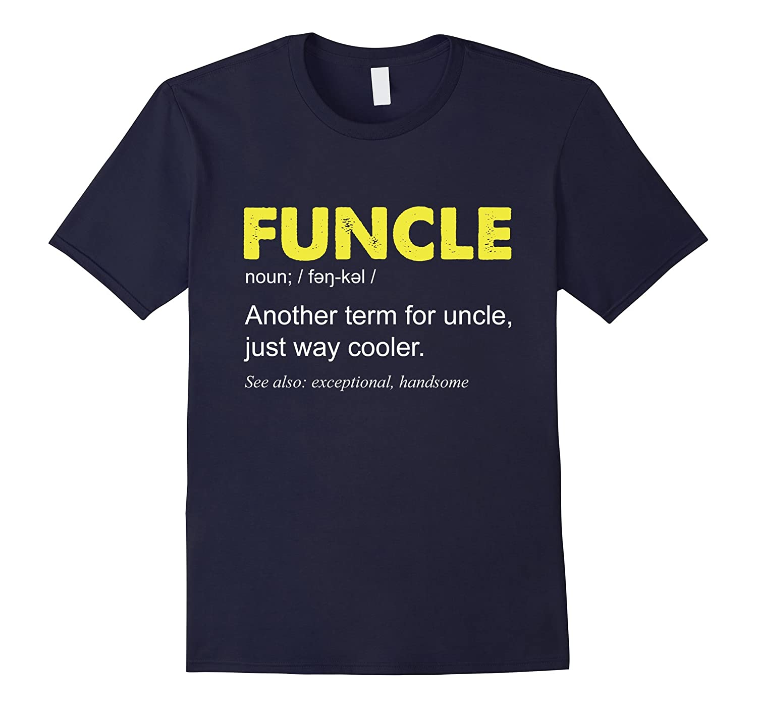 Funcle Definition Tshirt Uncle Black-Teesml