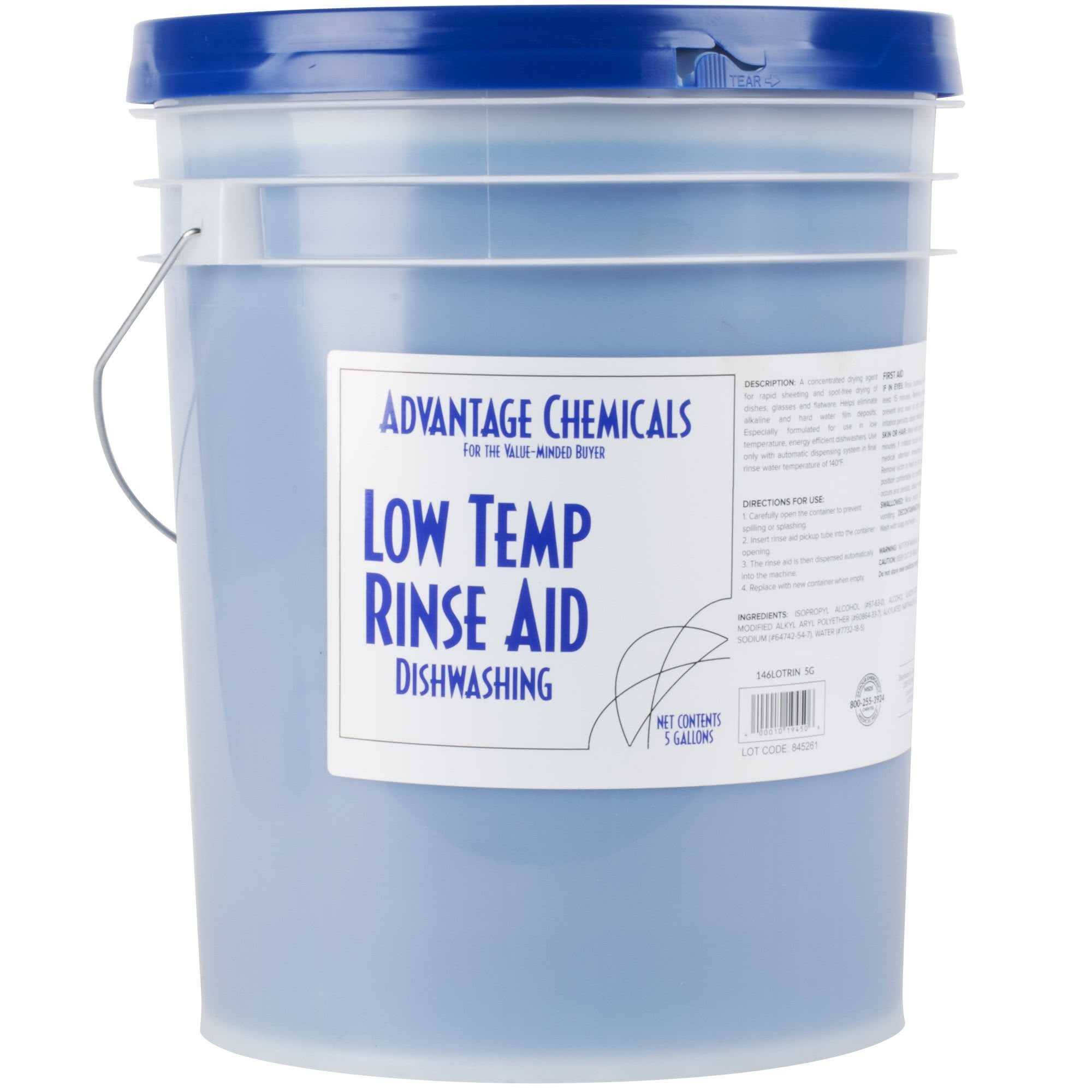 Advantage Chemicals 5 Gallon / 640 oz. Low Temperature Dish Washing Machine Rinse Aid by TableTop King (Image #1)