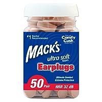Mack's Ear Care Ultra Soft Foam Tan Earplugs