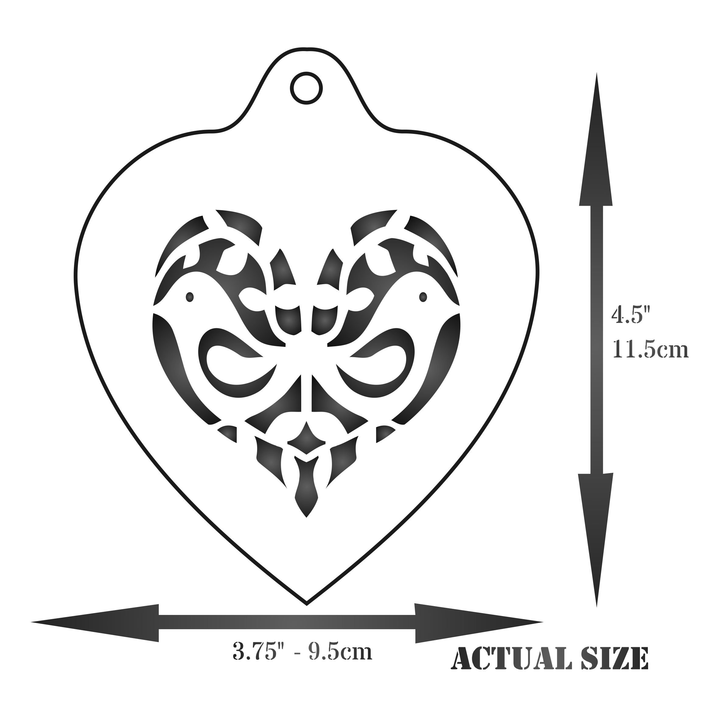 Heart Coffee Set Stencil - 9 Designs - Reusable Barista Stencils for Decorating Cappuccino Coffee Latte Cupcakes Cakes Cookies Scrapbooking Stenciling and more... by Stencils for Walls (Image #2)