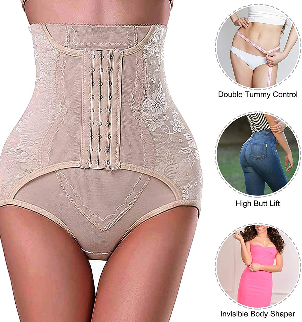 Lilith Thigh Slimmers Women High Waist Bodyshaper Slim Pants Body Shaper for Tummy Control