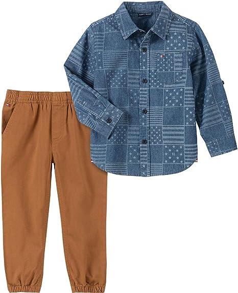 Tommy Hilfiger Baby Boys/' set 2 Piece Cardigan /& Pants sz 0//3 months
