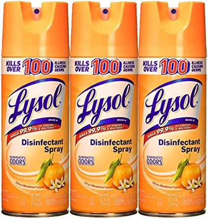lysol spray back label