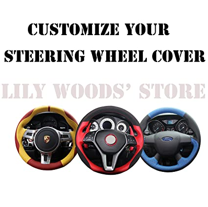 JI Loncky Genuine Leather Auto Custom Steering Wheel Covers for Porsche Cayenne S 2003 2004 2005