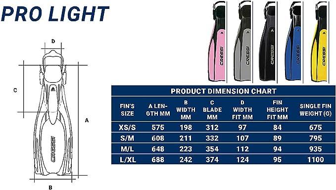 Big Eyes Cressi Pro Light Alpha Utra Dry Kits de Randonn/ée Aquatique Mixte
