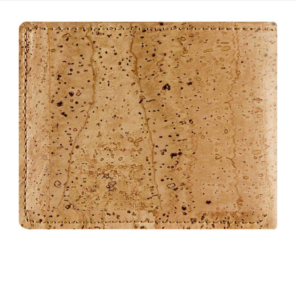 Bifold for Cards Cash Corkor Cork Wallet for Men Vegan Cruelty Free Non Leather