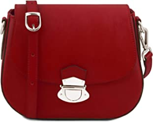 Tuscany Leather TL Neoclassic Leather shoulder bag Red f90ead03d1bda