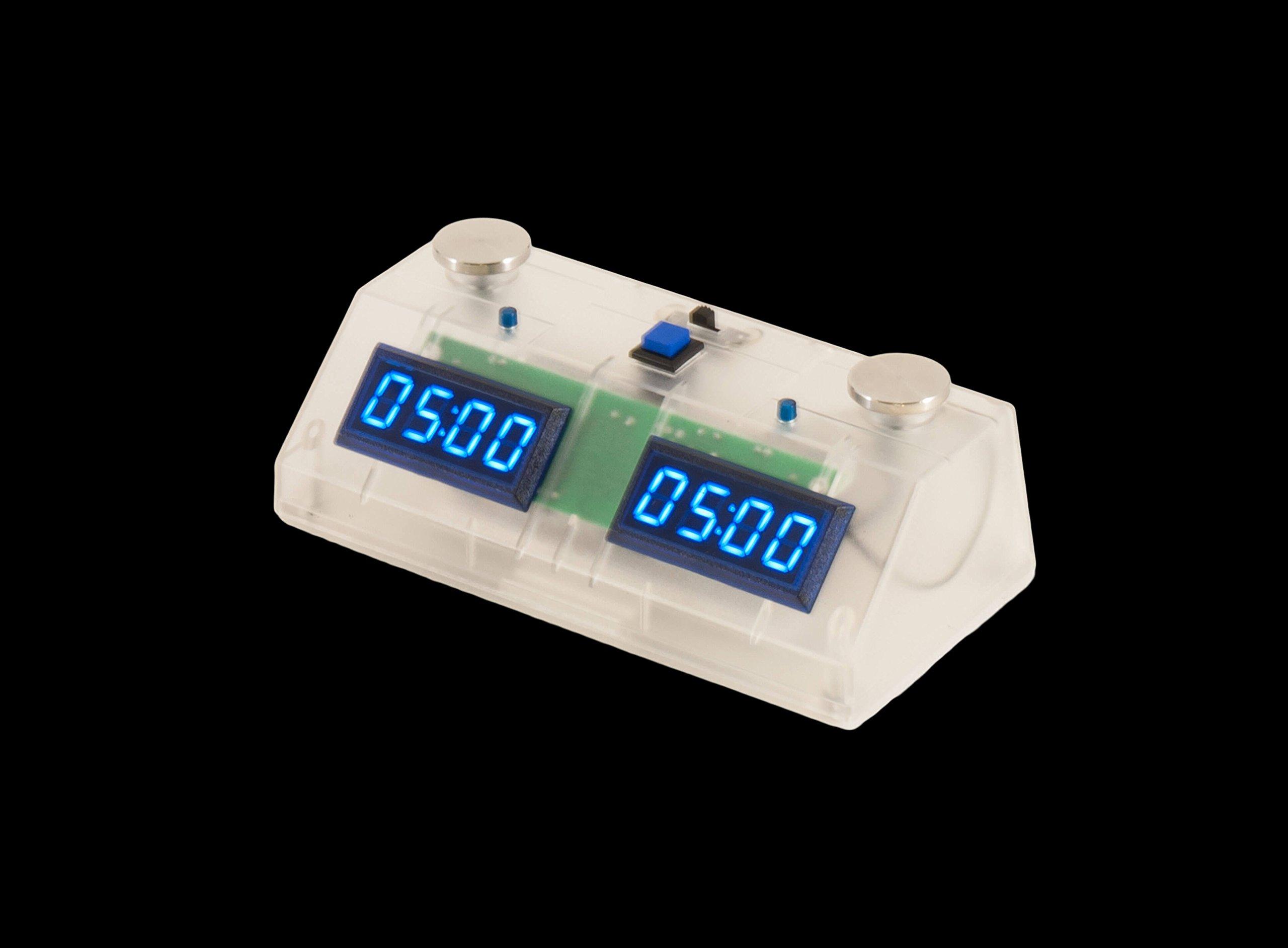 ZMart Fun II Digital Chess Clock with clear Exterior - Blue