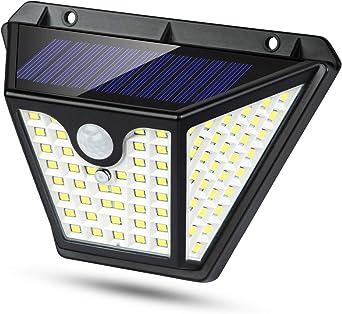 Luz Solar Exterior, [102LED-2200mah] Luces Solares Foco Solar Exterior con Sensor de Movimiento 3 Inteligente Modos, 270°Gran Angular Impermeable IP65 Lampara Solar Exterior Para Jardín: Amazon.es: Iluminación