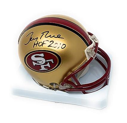 d7b73af91 Jerry Rice San Francisco 49ers Signed Autograph Throwback Mini Helmet HOF  INSCRIBED GTSM Rice Certified