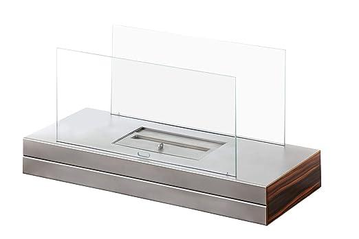 muenkel Design LLanura De Fuego Etanol chimenea mesa: Acero inox ...