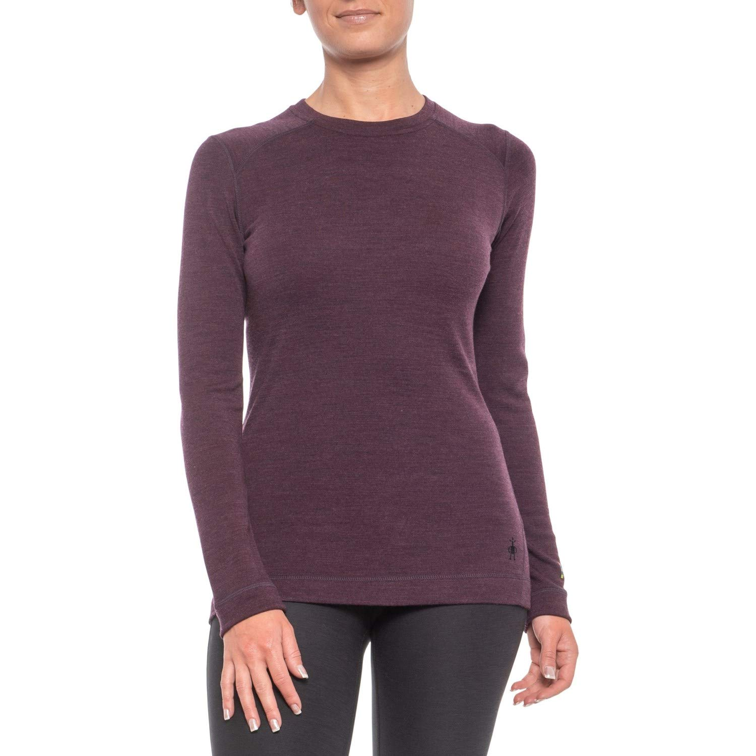 Smartwool Women's Base Layer Crew - Merino Wool 250 Long Sleeve Crew Neck Top (Medium, Bordeaux)