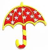 Nipitshop Patches Fashion Pretty Red Umbrella Stars