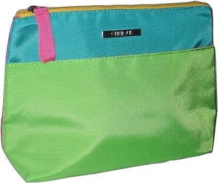 Clinique verde bloque de color bolsa de maquillaje cosmético: Amazon.es: Belleza