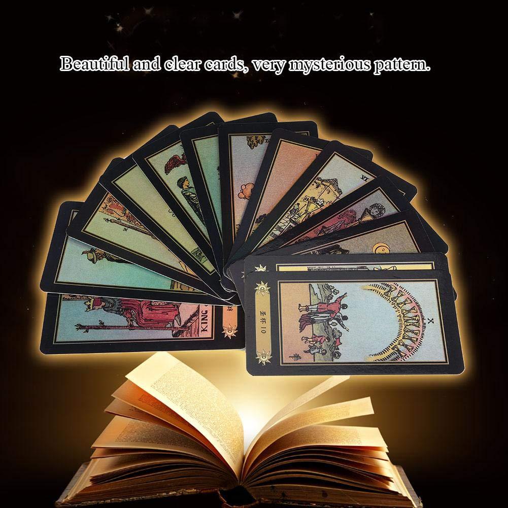 Juego de Cartas Versi/ón en Chino e ingl/és Juegos de Mesa para Principiantes Ni/ños Adultos 78pcs Cartas del Tarot Zerodis